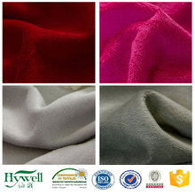 100% Polyester Colorful Super Soft Micro Velboa Fabric for Blanket