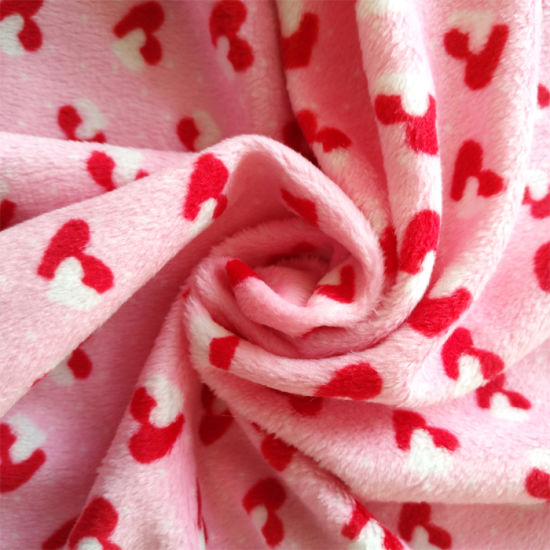 100% Polyester Knitting Minky Fabric for Blanket