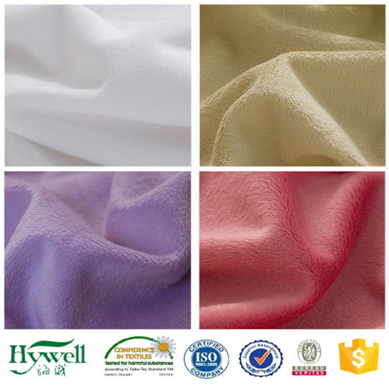 0.5-5mm Pile Super Soft Velboa Polyester Fabric
