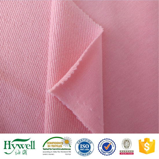 Pink French Loop Terry Knit Fabric for Jacket
