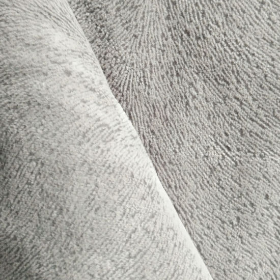 100% Polyester Knitted Sofa Fabric with Flocking Velvet
