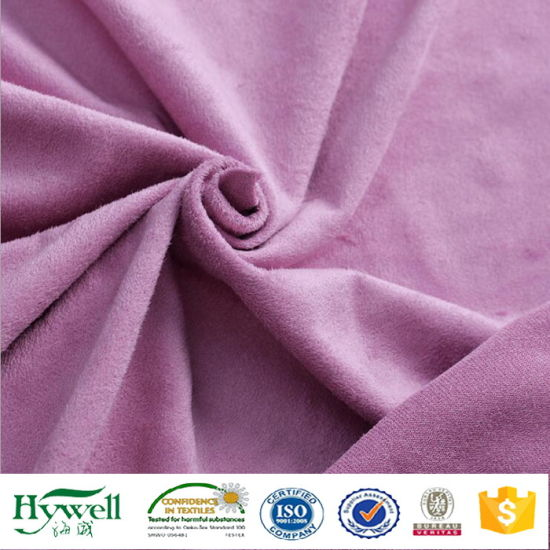Polyester Faux Suede for Hat Bag Coat Shoes