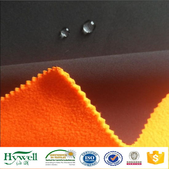 Woven Stretch Laminated Fleece Lining for Winter Jacket Softshell Fabric