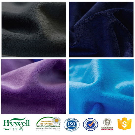 Polyester Velboa Fabric / Plush Toy Fabric for Textile