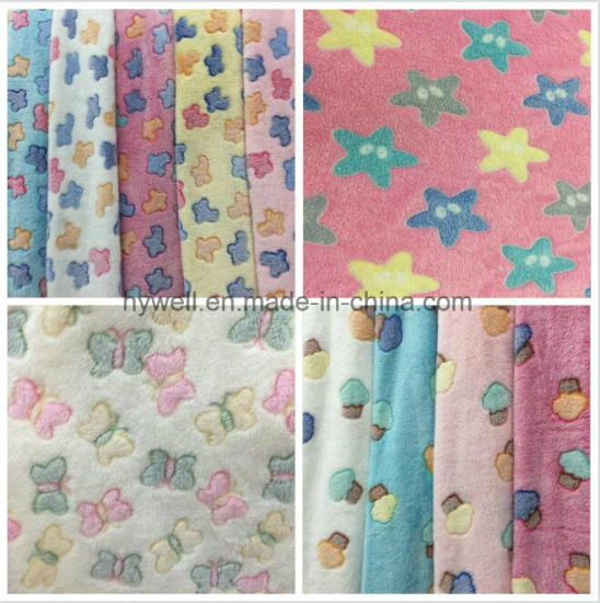 100% Polyester Coral Fleece Blanket Fabric