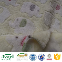 100% Polyester Blanket Fabric Print Coral Fleece