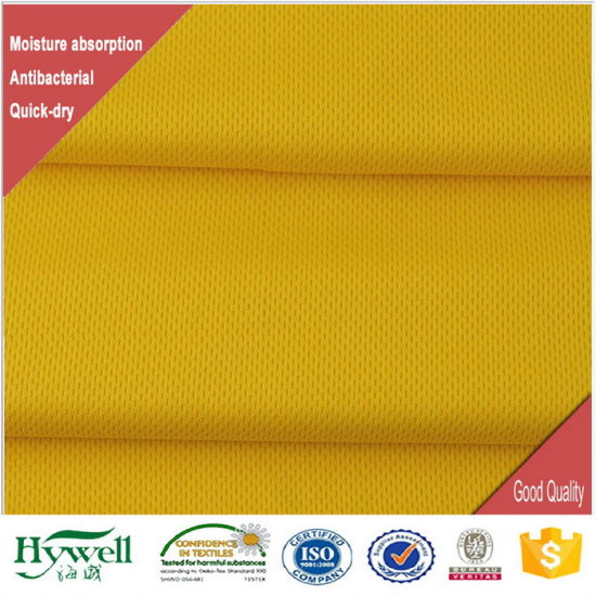 Anti-Bacterial and Moisture Management Shirt Mesh Fabric